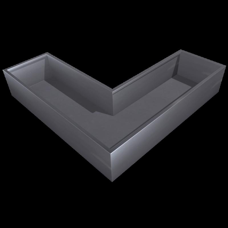 Aluminium U-Gefäss