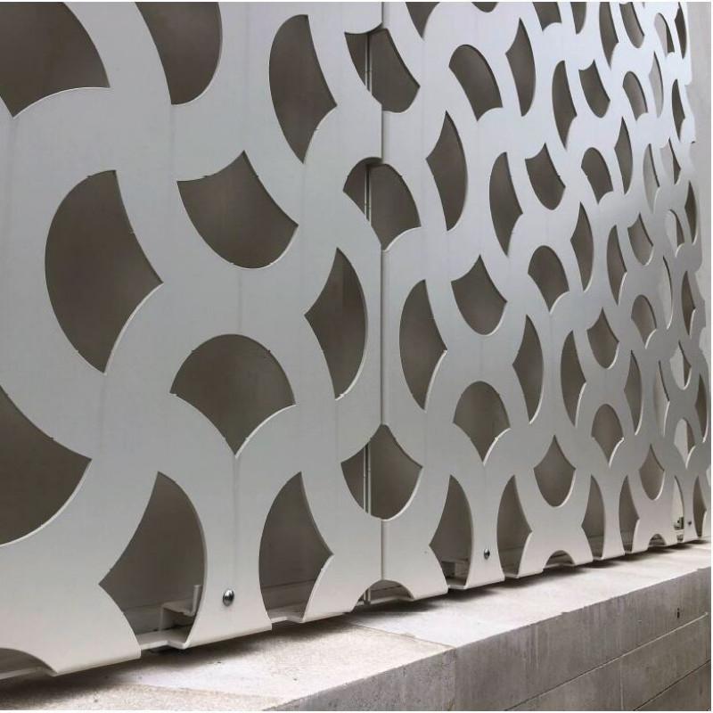 Aluminium Fassadenblech gekantet