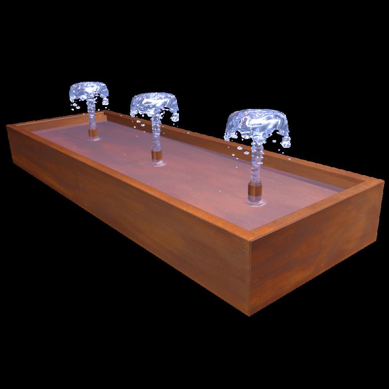 Brunnen Treno Corten