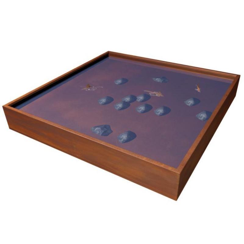 Wasserspiegel quadratisch